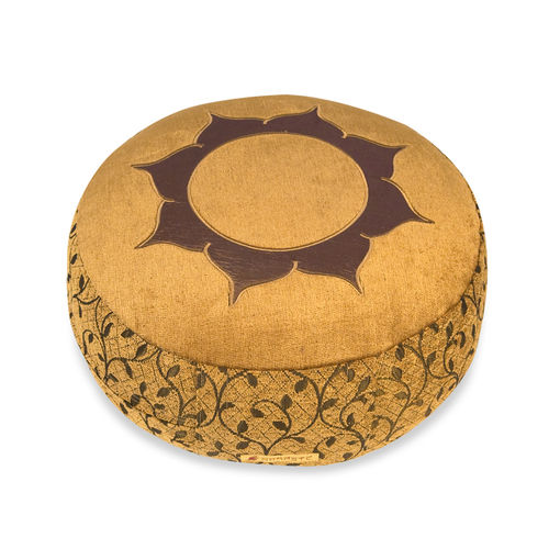 Round cushion DELUXE – gold – Lotus – various sizes