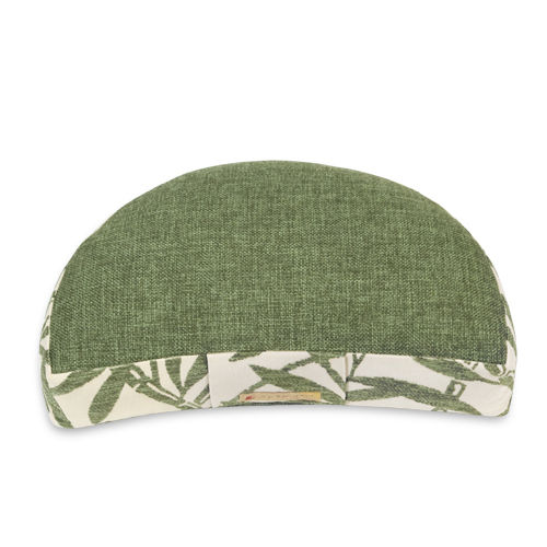 Crescent cushion BAMBOO – green