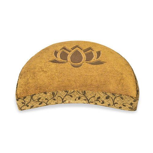 Crescent cushion DELUXE – gold – Lotus